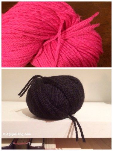 Pink and Black Moth Yarn