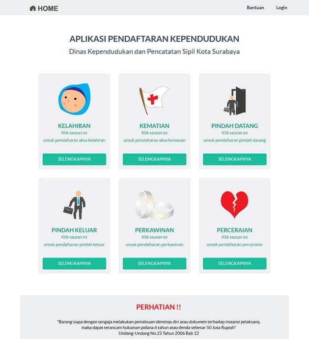 Daftar Online Akta Kelahiran - Lampid Surabaya