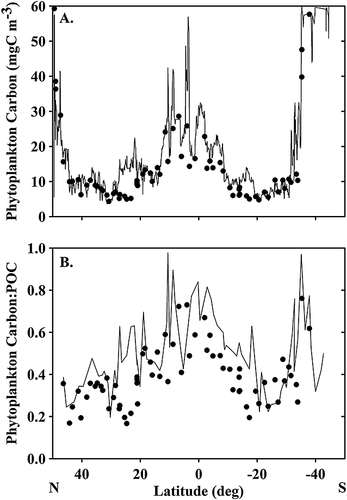 Optical backscattering is correlated with phytoplankton