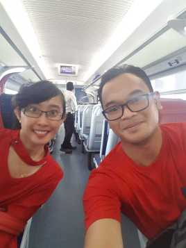 Suasana Kereta Penang ke Kuala Lumpur