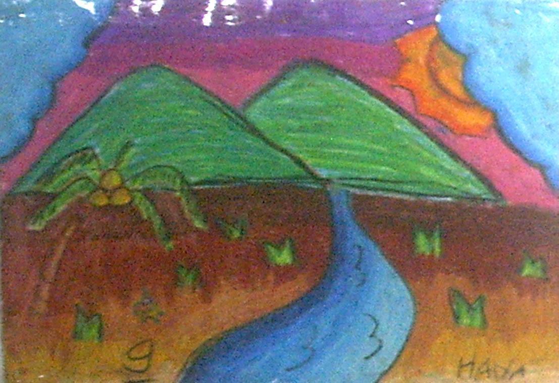 Lukisan Anakku Hana Hanifah 9 tahun  Agus Nizami