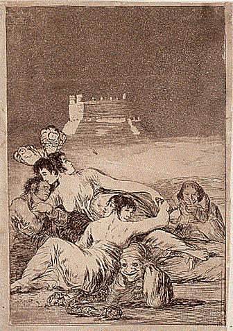 El sueño de la Mentira y la Inconstancia, de Francisco de Goya, 1799