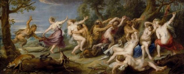 Diana y sus ninfas sorprendidas por sátiros