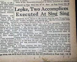 Louis Lepke Buchalter - Ejecutado en Sing Sing
