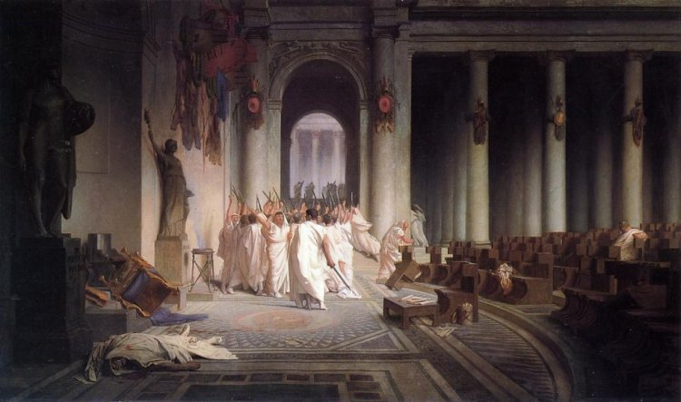Muerte de César, de Jean-Léon Gérôme, 1867