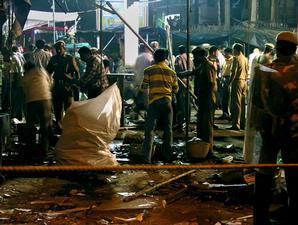 Ledakan dahsyat di Paharganj meluluhlantakkan pasar yang selalu ramai ini