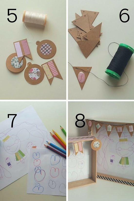 DIY marco especial para los abuelos - A gusto en casa