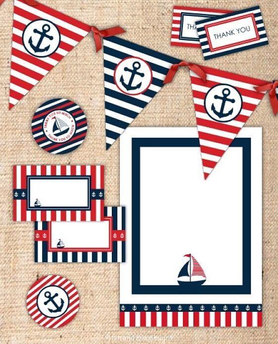 cómo preparar una fiesta náutica infantil
