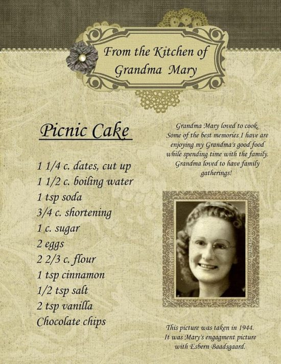 conservar recetas de familia