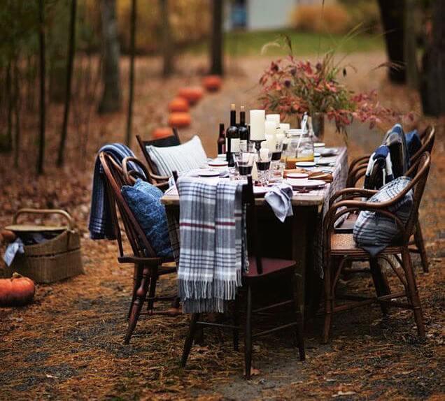 mesas de otoño