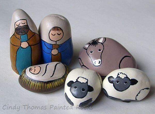 pintar piedras Especial Navidad