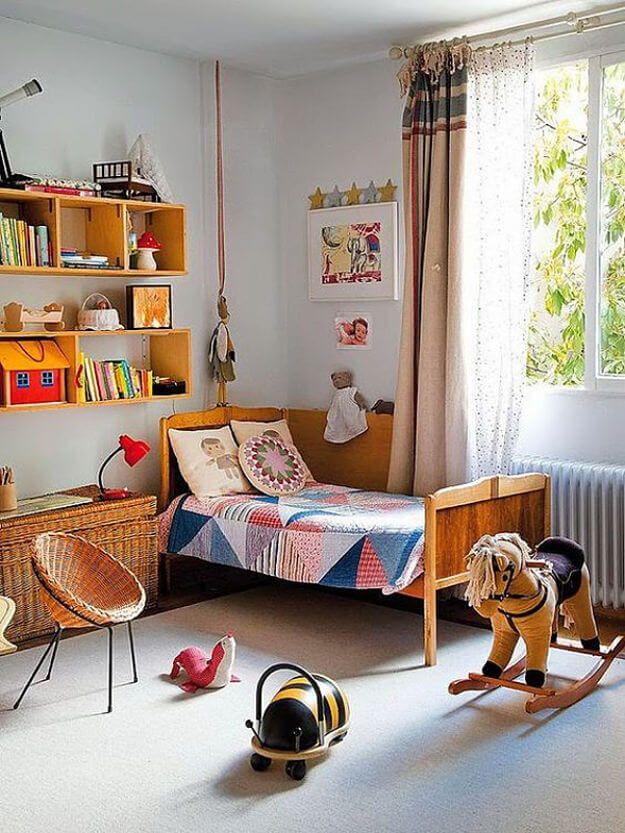 habitaciones infantiles con un toque vintage