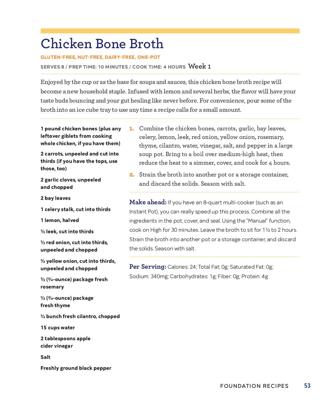 Bone Broth Diet Plan Pdf : broth, Gutsy, Girl®