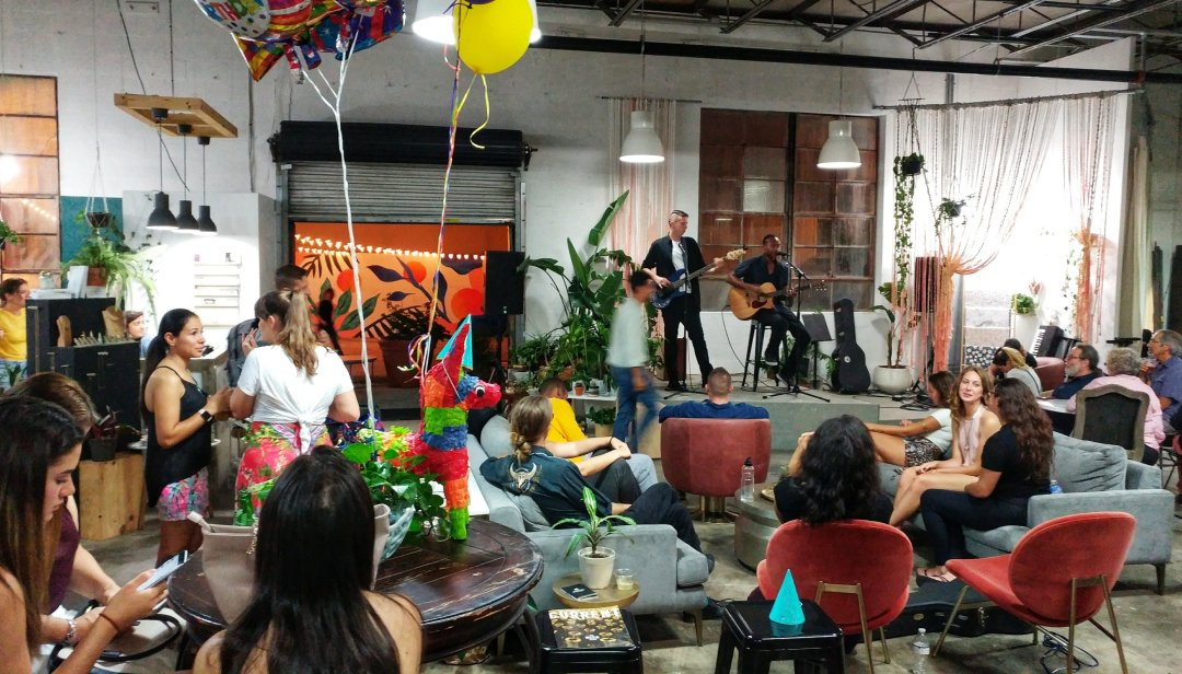 Music event at Elizabeth Ave Station