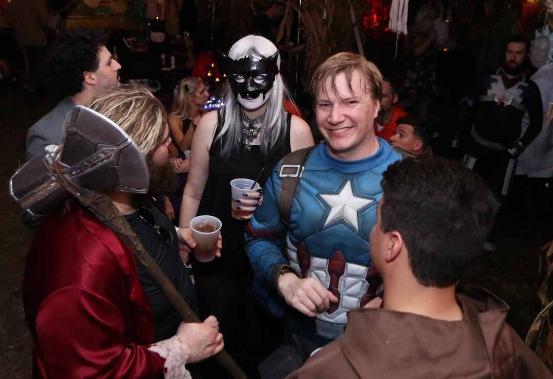 Captain America lost his helmet at Moonfest 2019 (photo by: Mike Jalches)