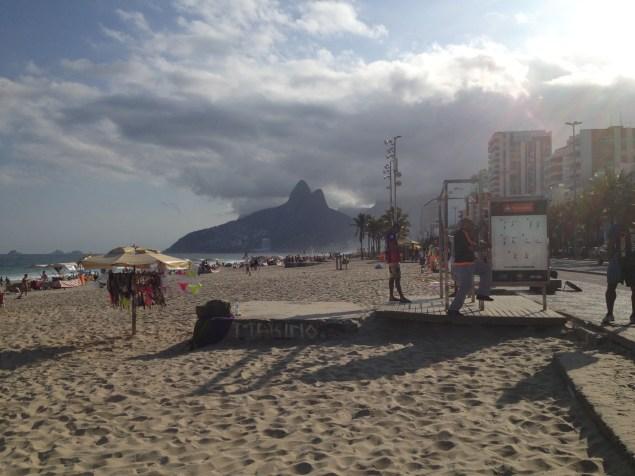 Skats Ipanemas pludmalē