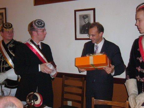 Innensenator Thomas Röwekamp sprach beim Universitätsfestkommers auf dem Tritonenhaus