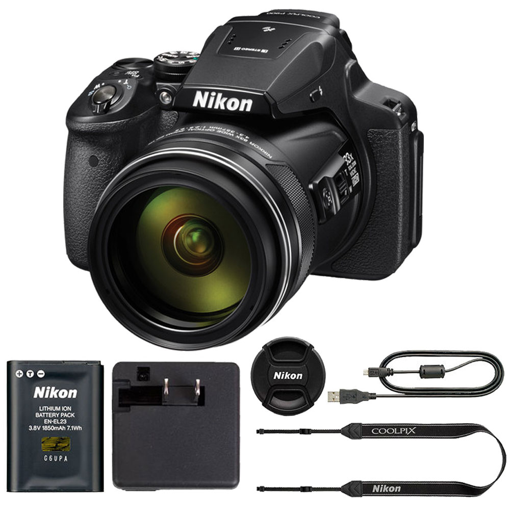 Nikon COOLPIX P900 Digital Camera with 83x Optical Zoom and Built-In Wi-Fi(Black | eBay