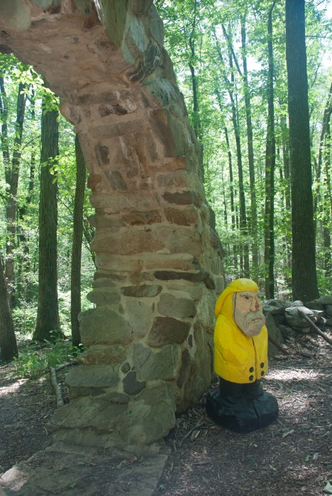 Captain Ahab of Ahab's Adventures at the Celtic Eye at Columcille Megalith Park in Pennsylvania 2015