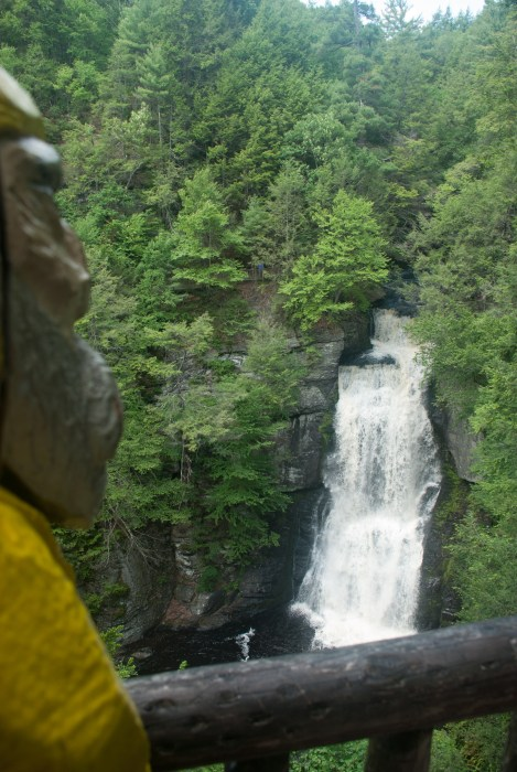 Captain Ahab of Ahab's Adventures at Bushkill Falls in the Delaware Water Gap National Recreational Area of Pennsylvania 2015