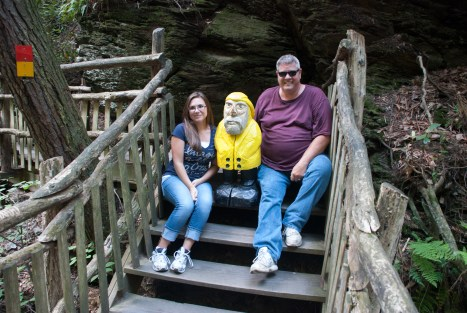 Captain Ahab of Ahab's Adventures was tailed by these two for a while at Bushkill Falls in the Delaware Water Gap National Recreational Area of Pennsylvania 2015