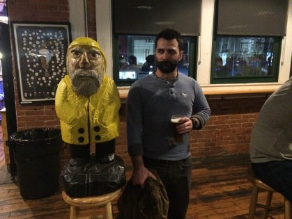 Captain Ahab of Ahab's Adventures losing track of time at Two Roads Brewing in Stratford, Connecticut 2015