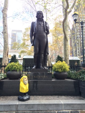 Captain Ahab of Ahab's Adventures near Bryant Park in NYC 2015