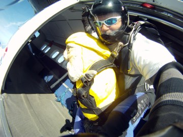 Captain Ahab of Ahab's Adventures skydiving with Brad at Jumptown in Orange Massachusetts 2016