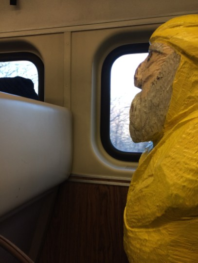 Captain Ahab of Ahab's Adventures on the train for to St. John U.S. Virgin Islands 2016