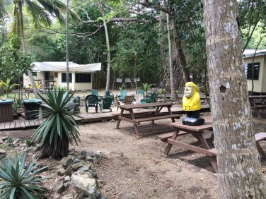 Captain Ahab of Ahab's Adventures hanging out at VIERS in St. John U.S. Virgin Islands 2016