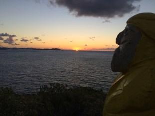 Captain Ahab of Ahab's Adventures sunrise hike to Ram Head on St. John U.S. Virgin Islands 2016