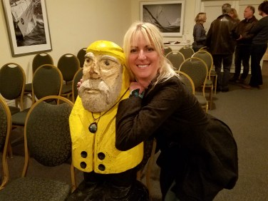 Captain Ahab of Ahab's Adventures at the speaking event at Harbor View Hotel on Martha's Vineyard in 2016