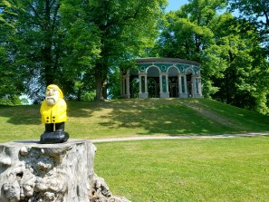 Captain Ahab of Ahab's Adventures at the Echo Temple inside Hagaparken in Stockholm Sweden 2016