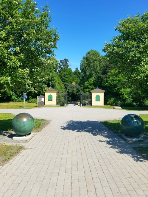 Captain Ahab of Ahab's Adventures at the North Entrance of Hagaparken in Stockholm Sweden 2016