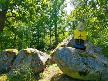 Captain Ahab of Ahab's Adventures exploring Djurgarden in Stockholm Sweden 2016