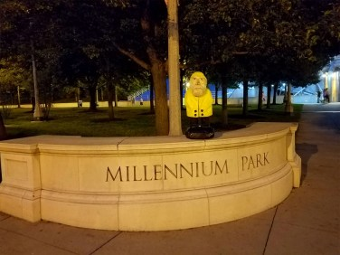 Captain Ahab of Ahab's Adventures at Millennium Park in Chicago Illinois 2016