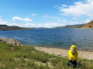 Captain Ahab of Ahab's Adventures checking out Gunnison Reservoir 2016