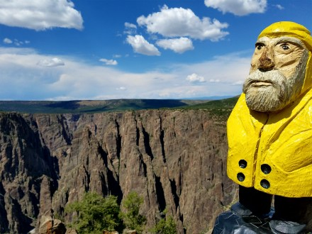 Captain Ahab of Ahab's Adventures admiring Black Canyon 2016