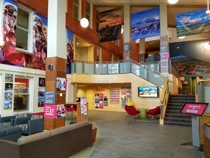 Captain Ahab of Ahab's Adventures exploring the campus at Western State Colorado University in Gunnison Colorado 2016