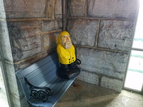 Captain Ahab of Ahab's Adventures inside the Bennington Battle Monument Vermont 2016