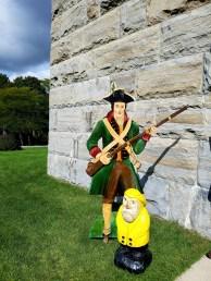 Captain Ahab of Ahab's Adventures outside the Bennington Battle Monument Vermont 2016