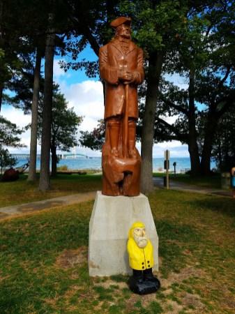 Captain Ahab of Ahab's Adventures enjoying in Lake Huron Michigan 2016