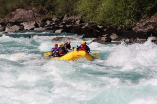 Captain Ahab of Ahab's Adventures rafting the waters of Futaleufu Chile 2017