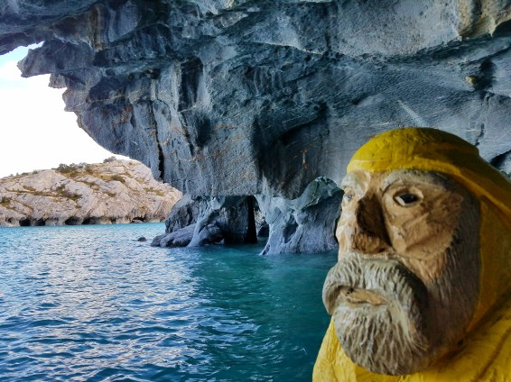 Captain Ahab of Ahab's Adventures at the Marble Caves of Puerto Rio Tranquilo Chile 2017