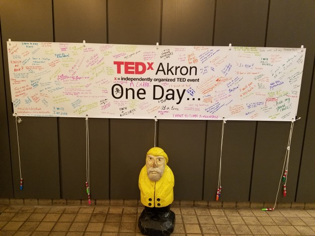 Captain Ahab of Ahab's Adventures at TEDxAkron in the Goodyear Theater 2017