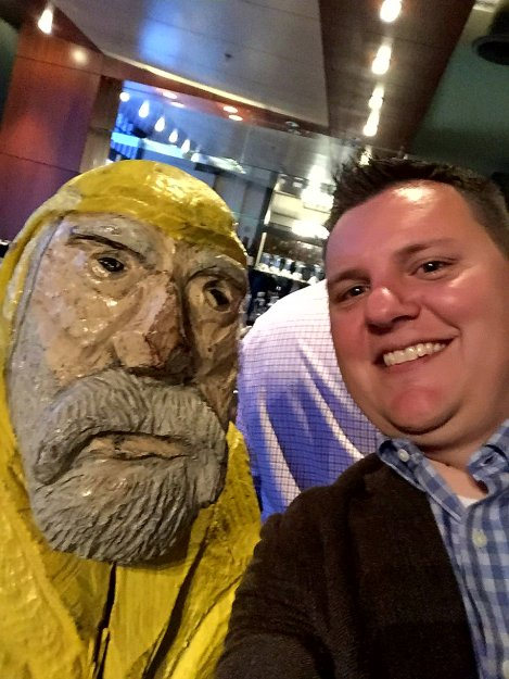aptain Ahab of Ahab's Adventures at the TEDxAkron after-party making friends 2017