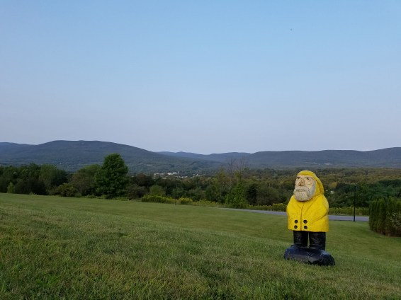 Captain Ahab of Ahab's Adventures on the campus of Southern Vermont College 2017