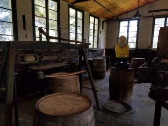 Captain Ahab of Ahab's Adventures enjoying the distillery tour at Bulleit in Louisville Kentucky 2017