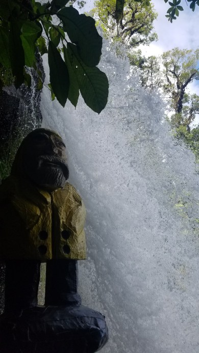 Captain Ahab of Ahab's Adventures perusing the grounds at the Peace Lodge & La Paz Waterfall Gardens Alajuela Costa Rica 2018