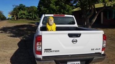 Captain Ahab of Ahab's Adventures sitting in his transport around Costa Rica 2018